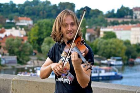 fiddler on a bridge