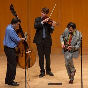 Musicians Edgar Meyer, Mike Marshall and George Meyer